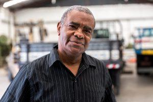 Portrait of Older Worker in Factory